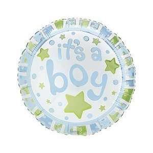 Green Stars 18 Mylar Foil Baby Shower Party Balloon