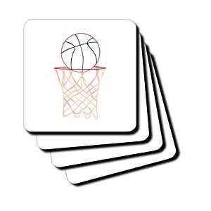 CherylsArt Sports Basketball   Basketball Hoop Net Outline Art Drawing