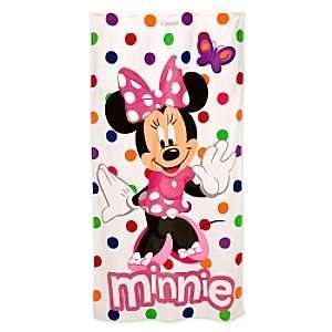 Disney Minnie Mouse Beach/Bath Towel with Polka Dots: Everything Else