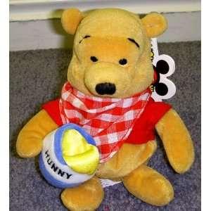 Pooh 8 Inch Plush Bean Bag Picnic Pooh with Hunny Pot Toys & Games