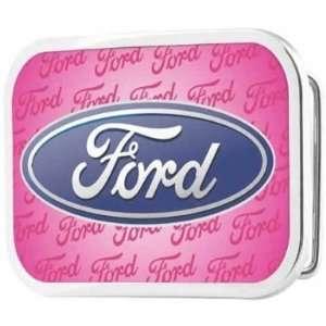 Officially Licensed Ford Car Logo Pink Belt Buckle