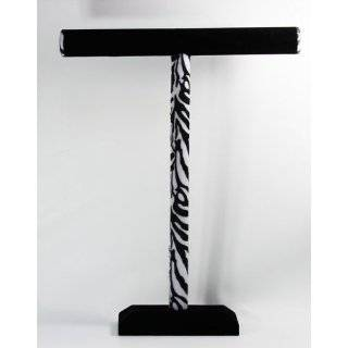 Double T Bar Necklace & Bracelet Jewelry Display Stand in Black Velvet