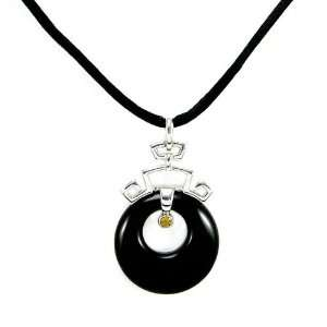 Perfect Gift   High Quality Pendant in Silver 925 with Black Agate and