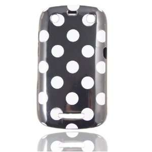 Black & White Polka Dot Flex Gel Case for Blackberry Curve