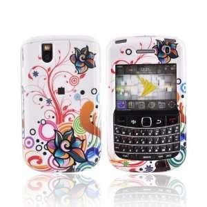 FLOWERS WHITE for Blackberry Bold 9650 Tour Hard Case