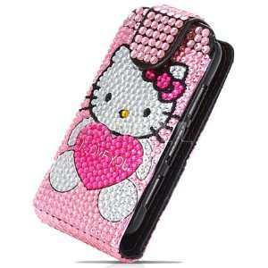 LEATHER BLING FLIP CASE FOR NOKIA C6 01 Cell Phones & Accessories