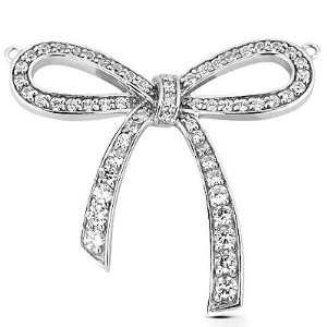 Pendant Knot Bow Pave Set 14k Gold Fascinating Diamonds Jewelry