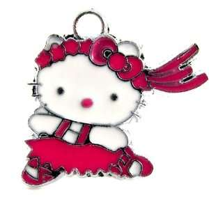 12X DIY Jewelry Making Hello Kitty Pink Dress and Bow