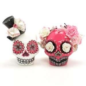 Cake Topper A00018 Skull Day of Dead Wedding Skull Lover Cake toppers