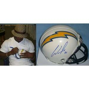 Craig Davis (San Diego Chargers) Signed Autographed Mini Helmet (PSA