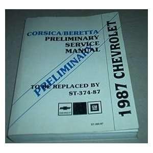 1987 Chevrole Chevy Corsica Berea Service Manual Oem gm