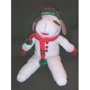 Shari Lewis Large 20 Plush Christmas Lamb Chop Doll From