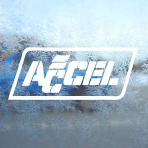 Accel Coils Plugs White Decal Car Window Laptop White