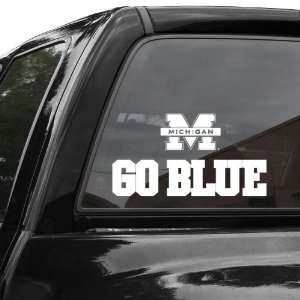 NCAA Michigan Wolverines 4 x 17 Die Cut Decal Strip