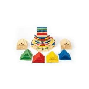 Colorful Wooden Building Rods   Set of 250: Toys & Games