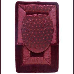 Rug/mat Set. Bath Rug/mat, Contour Rug/mat, Toilet Seat Lid Cover