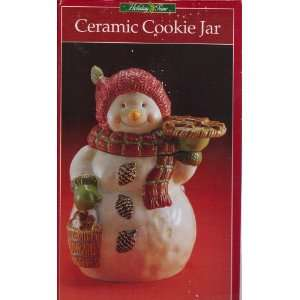 Snowman Ceramic Cookie Jar