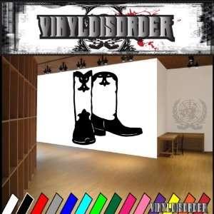 Western Cowboy Boots NS012 Vinyl Decal Wall Art Sticker