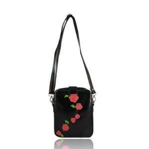 Espe Rosa Black Messenger Handbag Crossbody Purse Bag