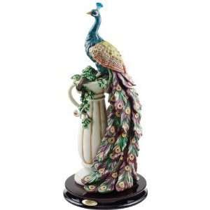 Plumage Peacock Home Garden Sculpture Statue Figurine Home & Kitchen