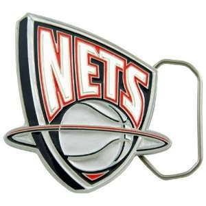 New Jersey Nets Pewter Team Logo Belt Buckle Sports & Outdoors