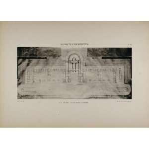 Rome Coquart Architecture Floor Plan   Original Print