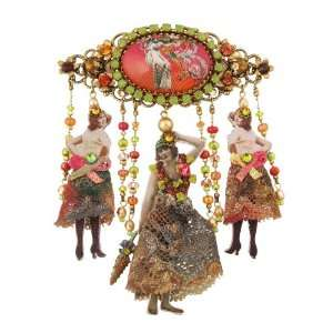 Michal Negrin Hair Brooch from her 20th Century Collection with
