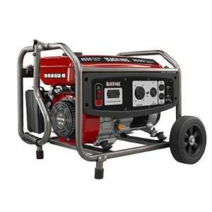 Black Max 3,650 Watt Portable Gas Generator Office Products