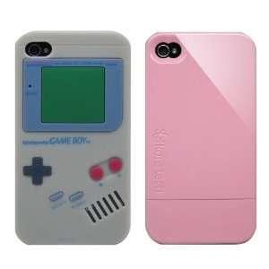 2pcs Set Nintendo Game Boy Silicone Case Grey + KoreTech (TM) Glider