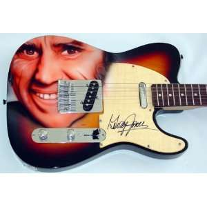 George Jones Autographed Signed Airbrush Guitar