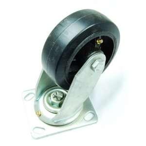 5 Swivel Plate Caster   Rubber Wheel on Cast Iron Rim