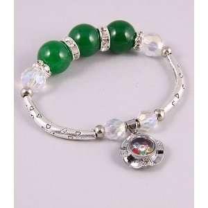 Bracelet with Genuine Austrian Rhinestone Green Color