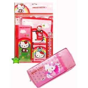 Hello Kitty 11 Pcs Stationery Set+Pink Hello Kitty Pencil