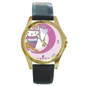hello kitty v17 Gold Metal Watch