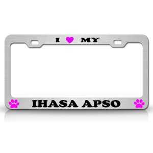 I LOVE MY IHASA APSO Dog Pet Animal High Quality STEEL