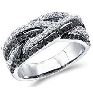 Fashion Band 14k White Gold (0.88 Carat), Size 9 Jewel Roses Jewelry