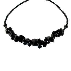 Black Jet Crystal Necklace Fashion Jewelry Jewelry