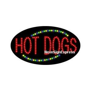 Animated Hot Dogs LED Sign
