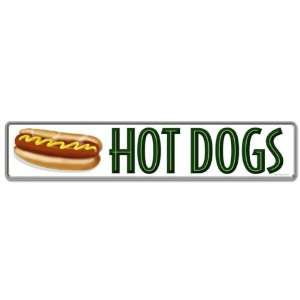 Hot Dogs Tin Sign 28 x 6 Home & Kitchen