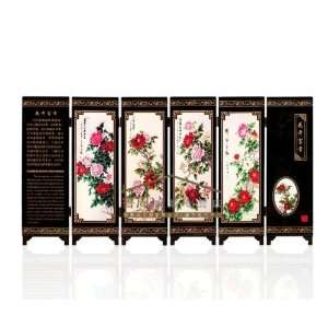 Antique Screen / Six Blossoming Models / Business Gifts