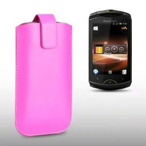 SONY ERICSSON LIVE WITH WALKMAN PINK PU LEATHER CASE, BY
