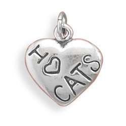 I Love CATS Charm Jewelry