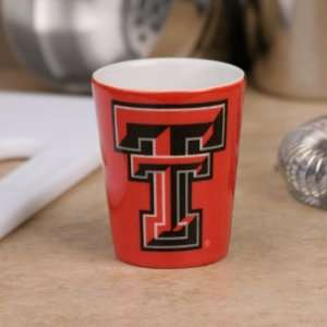 Texas Tech Red Raiders Scarlet Black Classic Ceramic Shot