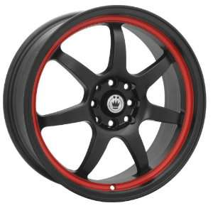 Konig Forward 15x6.5 Sentra Corolla Civic Scion Wheels Rims Black Red