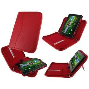 rooCASE Executive Portfolio (Red) Leather Case Cover with Landscape