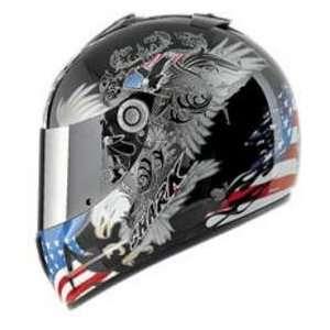 Shark RSX FLAG BLK_BLU_RED XL MOTORCYCLE Full Face Helmet Automotive