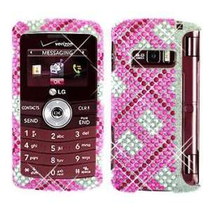 Premium   LG VX9200/enV3 Full Diamond Hot Pink Plaid Cover