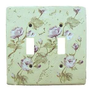 ROSE floral light SWITCH PLATE COVER wall home decor