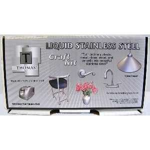 Liquid STAINLESS Steel PAINT CRAFT Kit Home Kitchen NEW