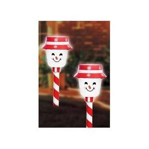 LED Snowman Pathway Markers/Snowman Path Markers